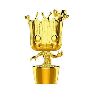 Funko POP! Marvel Studio - Groot Gold Chrome Vinyl Figure