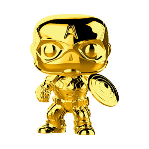 Funko POP! Marvel Studio - Captain America Gold Chrome Vinyl Figure