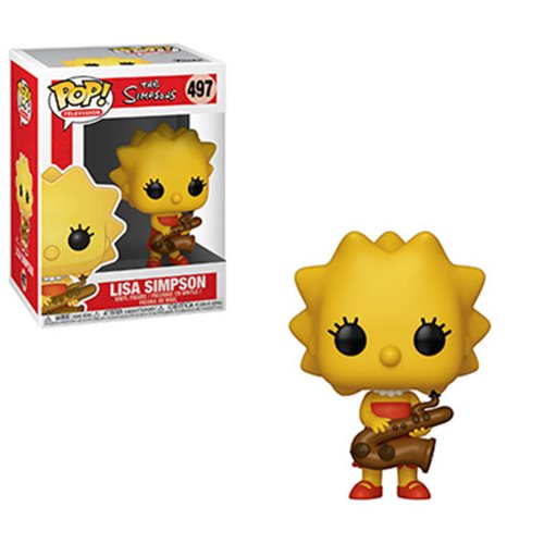 Funko POP! The Simpsons - Lisa Simpsons Saxophone Vinyl Figure #497