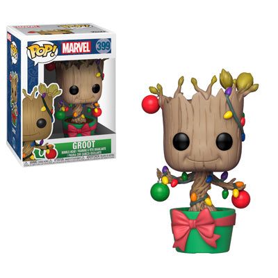 Funko POP! Marvel Holiday - Groot with Lights and Ornaments Vinyl Figures #399