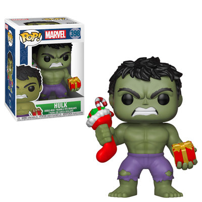 Funko POP! Marvel Holiday - Hulk with Stocking and Plush Vinyl Figures #398