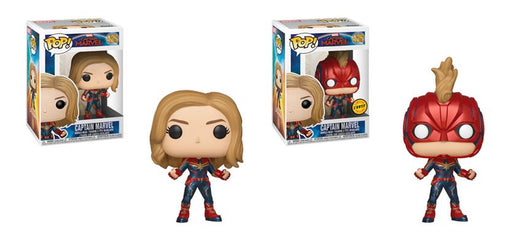 Funko POP! Captain Marvel - Captain Marvel Common and Chase Bundle #430