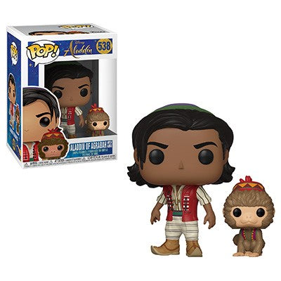 Funko POP! Aladdin (Live Action) - Aladdin with Abu Vinyl Figure #538