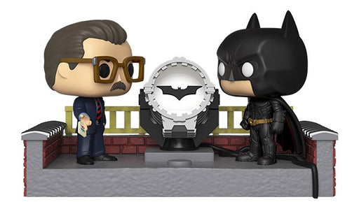 Funko POP! Movie Moment: Batman 80th - Batman with Light Up Bat Signal Vinyl Figure
