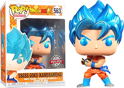 Funko POP! Dragon Ball Super - SSGSS Goku (Kamehameha) Vinyl Figure #563 Special Edition Exclusive [READ DESCRIPTION]