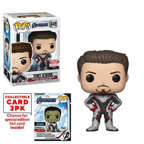 Funko POP! Avengers: Endgame - Tony Stark with Collector Cards #449 - Entertainment Earth Exclusive (NOT 100% MINT)