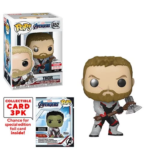 Funko POP! Avengers: Endgame - Thor with Collector Cards #452 - Entertainment Earth Exclusive (NOT 100% MINT)