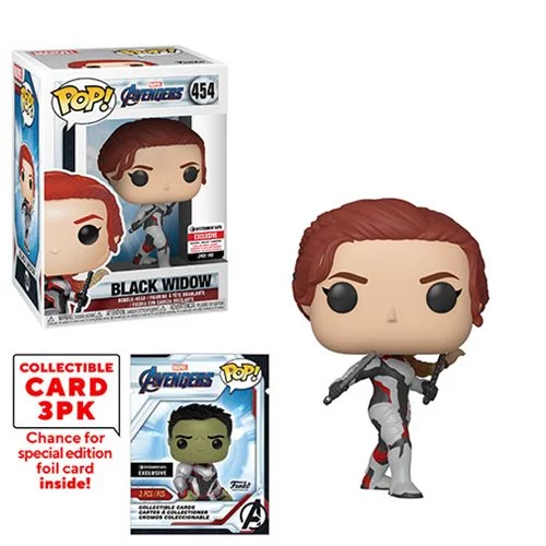 Funko POP! Avengers: Endgame - Black Widow with Collector Cards #454 - Entertainment Earth Exclusive (NOT 100% MINT)