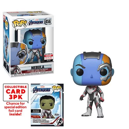 Funko POP! Avengers: Endgame - Nebula with Collector Cards #456 - Entertainment Earth Exclusive (NOT 100% MINT)