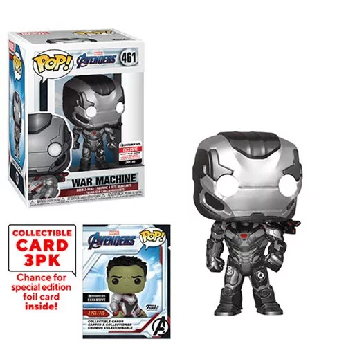 Funko POP! Avengers: Endgame - War Machine with Collector Cards #461 - Entertainment Earth Exclusive (NOT 100% MINT)