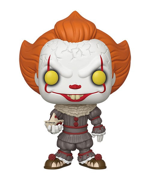 Funko POP! It: Chapter 2 - 10-Inch Pennywise with Boat Vinyl Figure
