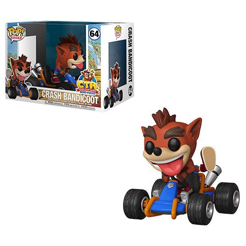 Funko POP! Rides: Crash Team Racing - Crash Bandicoot Vinyl Figure #64