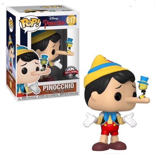 Funko POP! Pinocchio - Pinocchio (Long Nose) with Jiminy Cricket Vinyl Figure #617 Special Edition Exclusive [READ DESCRIPTION]