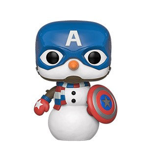 Funko POP! Marvel Holiday - Captain America Vinyl Figure