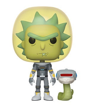 Funko POP! Rick and Morty - Space Suit Rick with Snake Vinyl Figure