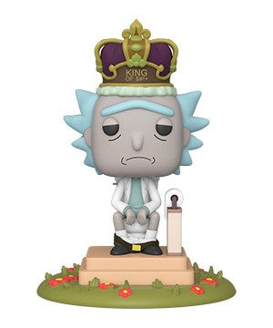 Funko POP! Deluxe: Rick and Morty - King of $#!+ with Sound Vinyl Figure