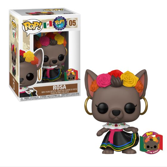 Funko POP! Around The World - Rosa (Mexico) with Pin #5 Funko-Shop Exclusive [READ DESCRIPTION]