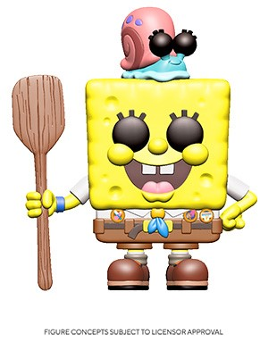 [PRE-ORDER] Funko POP! Spongebob Squarepants - Spongebob Squarepants with Gary (Uniform) Vinyl Figure