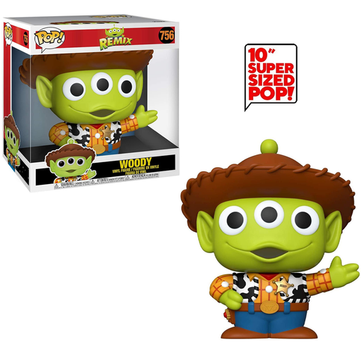 Funko POP! Pixar: Alien Remix - 10-Inch Alien as Woody Vinyl Figure #756