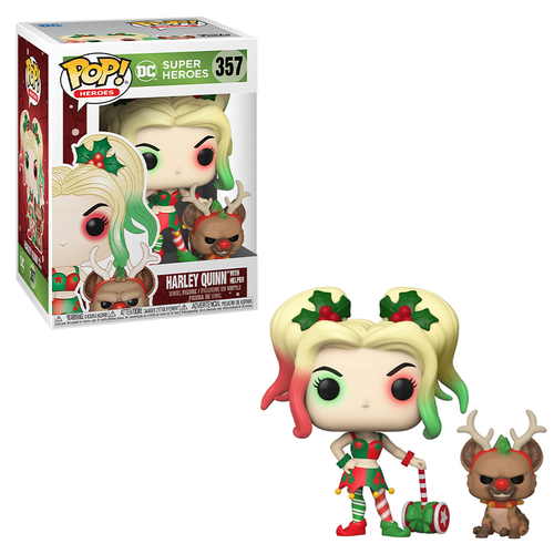 [PRE-ORDER] Funko POP! DC Holiday - Harley Quinn with Helper Vinyl Figure