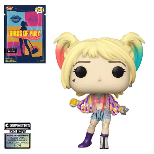Funko POP! Birds of Prey - Harley Quinn Caution Tape with Collectible Card  - Entertainment Earth Exclusive