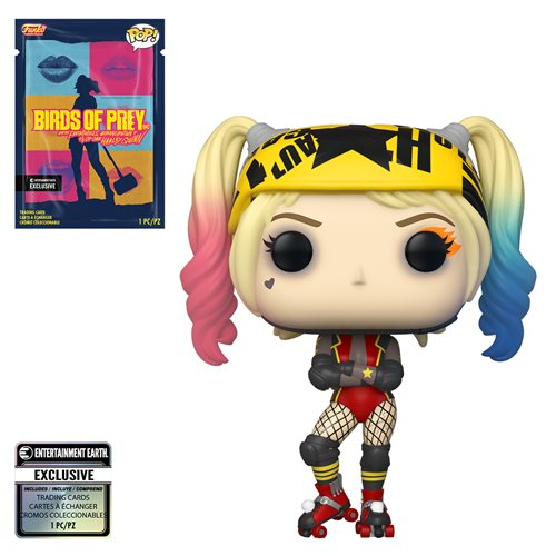 Funko POP! Birds of Prey - Harley Quinn (Roller Derby) with Collectible Card  - Entertainment Earth Exclusive