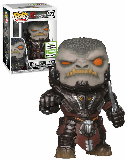 Funko POP! Gears of War - General Raam Vinyl Figure #473 2019 Spring Convention Exclusive (NOT 100% MINT)