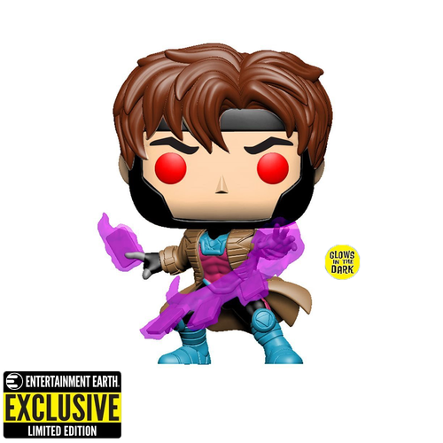 Funko POP! X-Men Classic - Gambit Glow-in-the Dark Vinyl Figure Entertainment Earth Exclusive [READ DESCRIPTION]