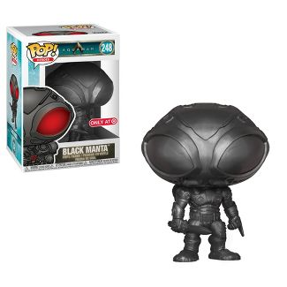 Funko POP! Aquaman - Black Manta Metallic Vinyl Figure #248 TARGET EXCLUSIVE (NOT 100% MINT)