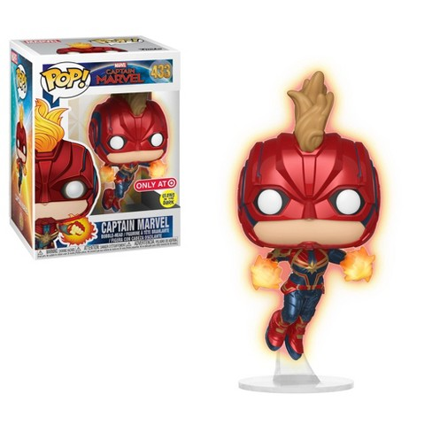 Funko POP! Captain Marvel - Glow In The Dark Flying Captain Marvel Vinyl Figure #433 Target Exclusive (NOT 100% MINT)
