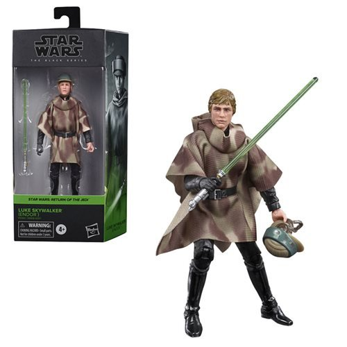 Star Wars: The Black Series - Luke Skywalker (Endor Battle Poncho) (Return of the Jedi) 6-Inch Action Figure