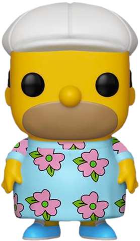 Funko POP! The Simpsons - Homer Muumuu Vinyl Figure #502 Hot Topic Exclusive (NOT 100% MINT)