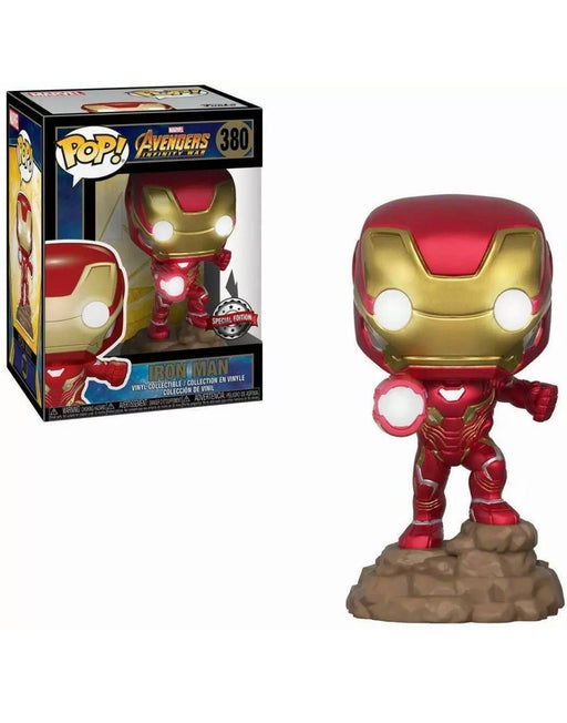 Funko POP! Avengers: Infinity War - Iron Man (Light Up) Vinyl Figure #380 Special Edition Exclusive [READ DESCRIPTION]