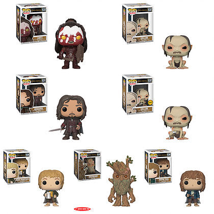 Funko Pop Lord Of The Rings Complete Set Of 7 Chase