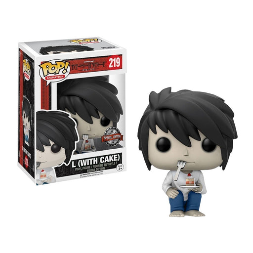 Funko POP! Death Note - L with Cake Vinyl Figure #219 Special Edition Exclusive [READ DESCRIPTION]