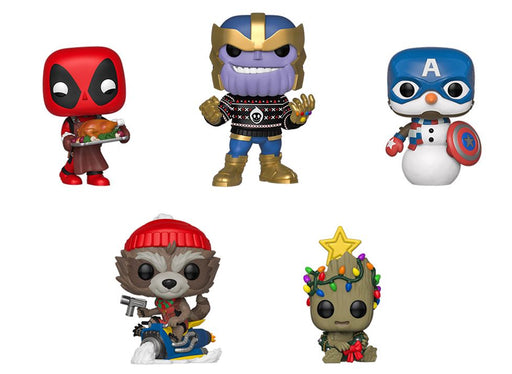 [PRE-ORDER] Funko POP! Marvel Holiday - Set of 5