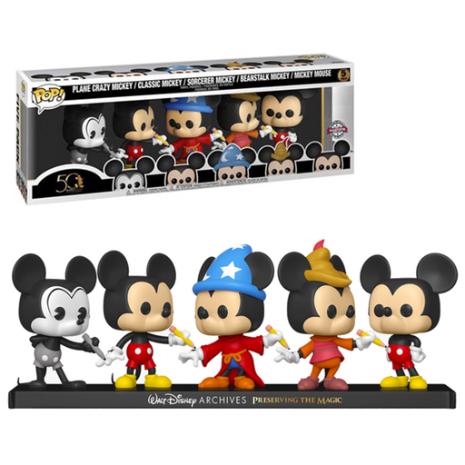 Funko POP! Disney: Archives - Mickey Mouse 5-Pack Special Edition Exclusive [READ DESCRIPTION]