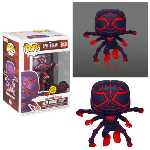 Funko POP! Spider-Man: Miles Morales - Miles Morales (Jumping Pose)(Programmable Matter Suit) GITD Vinyl Figure #840 Special Edition Exclusive [READ DESCRIPTION]