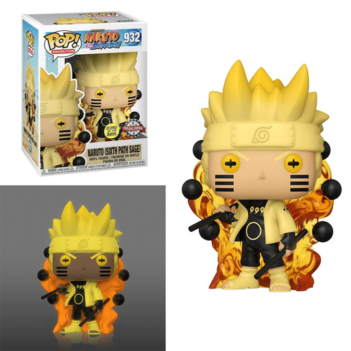 Funko POP! Naruto Shippuden - Naruto Six Path Sage (Glow In The Dark) Vinyl Figure #932 Special Edition Exclusive [READ DESCRIPTION]