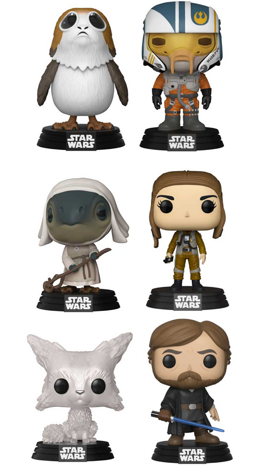 Funko POP! Star Wars: The Last Jedi - Series 2 Complete Set of 6
