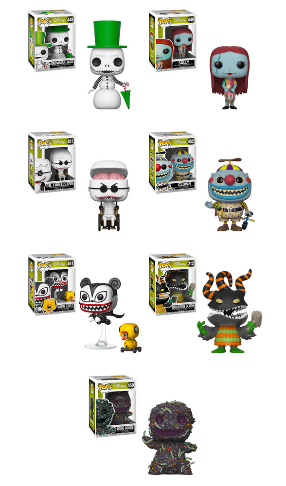 Funko POP! Nightmare Before Christmas - 25th Anniversary Complete Set of 7
