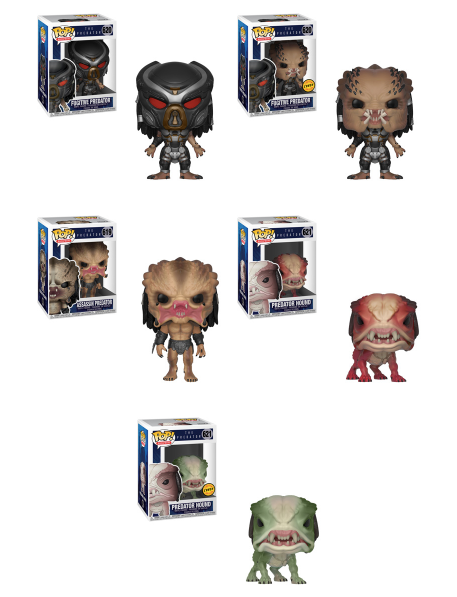 Funko POP! The Predator - Complete Set of 5 Chase Included