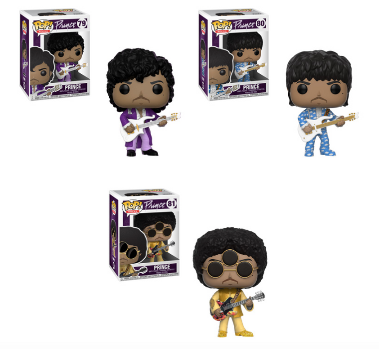 Funko POP! Rocks - Prince Complete Set of 3