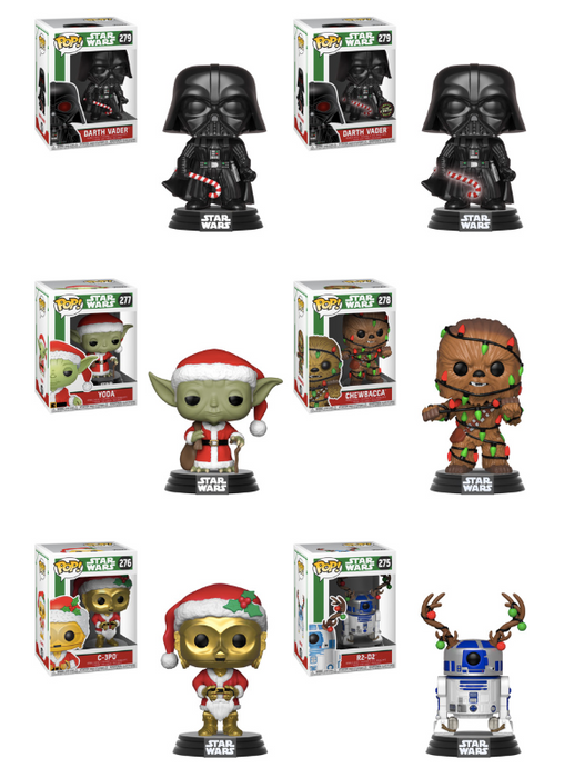 Funko POP! Star Wars: Holiday - Complete Set of 6 Chase Included