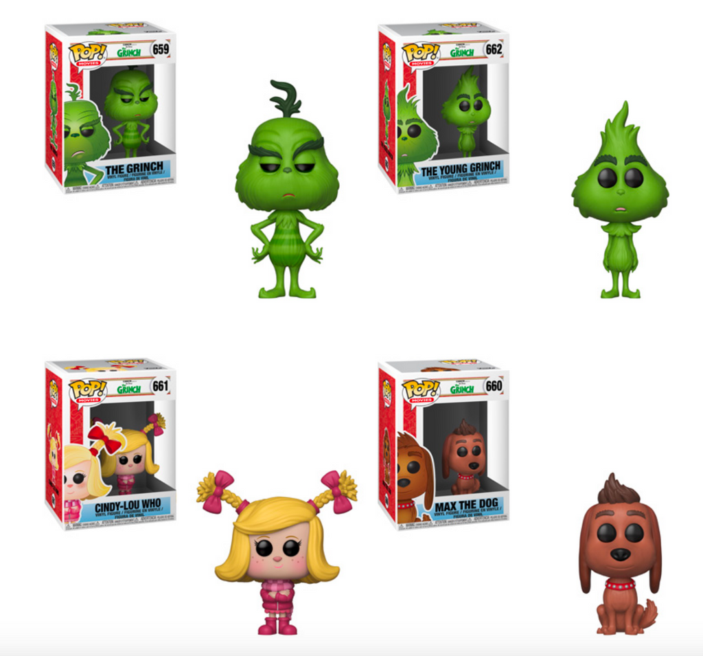 fe9f9a96629 Funko POP! The Grinch - Complete Set of 4 – Shumi Toys   Gifts