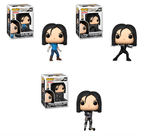 Funko POP! Alita: Battle Angel - Complete Set of 3