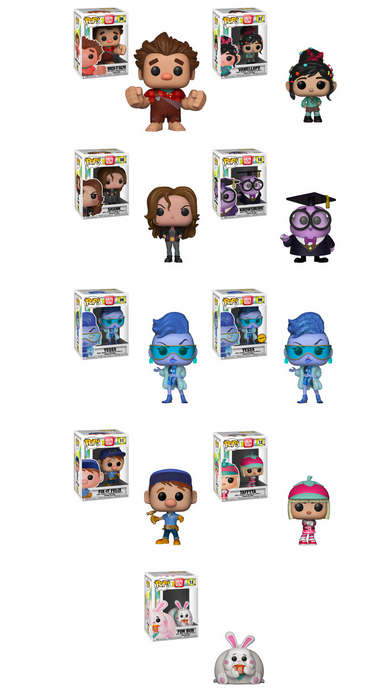 Funko POP! Ralph Breaks the Internet - Complete Set of 9 Chase Included