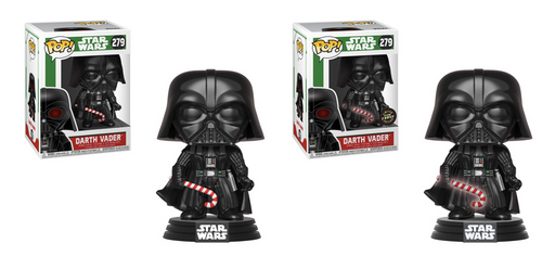 Funko POP! Star Wars: Holiday - Darth Vader Common and Chase Bundle #279
