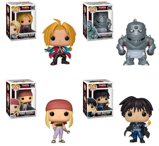 Funko POP! Fullmetal Alchemist - Complete Set of 4