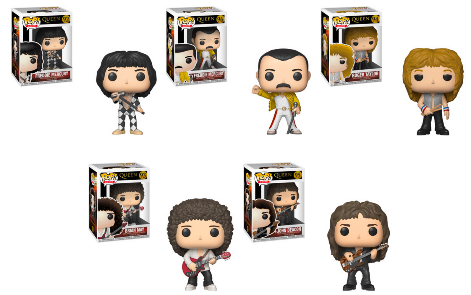 Funko POP! Rocks: Queen - Complete Set of 5